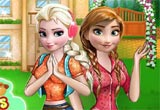 Jogo Frozen Sisters Barbecue Party